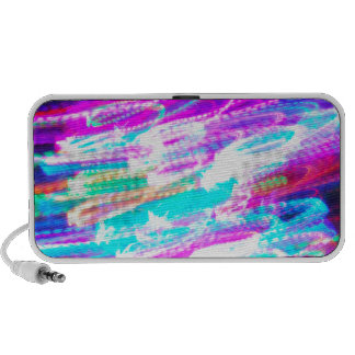 Fun design with vibrant colorful streaks of ligh mp3 speakers