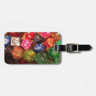 Fun Dice design for gamers Bag Tag