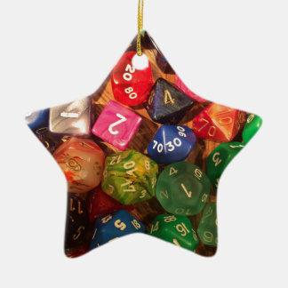 Fun Dice design for gamers Ceramic Ornament