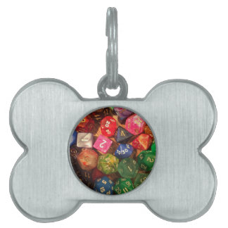 Fun Dice design for gamers Pet Tag