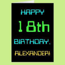 Fun Digital Computing Themed 18th Birthday Card