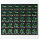 [ Thumbnail: Fun Digital Computing Themed 70th Birthday Wrapping Paper ]
