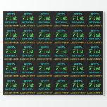 [ Thumbnail: Fun Digital Computing Themed 71st Birthday Wrapping Paper ]