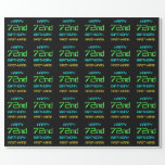 [ Thumbnail: Fun Digital Computing Themed 72nd Birthday Wrapping Paper ]