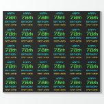 [ Thumbnail: Fun Digital Computing Themed 78th Birthday Wrapping Paper ]