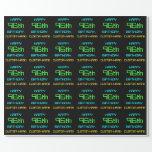 [ Thumbnail: Fun Digital Computing Themed 96th Birthday Wrapping Paper ]