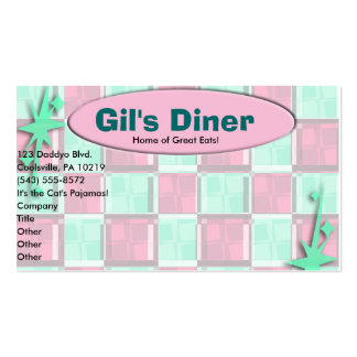 Fun Diner Style Double-Sided Standard Business Cards (Pack Of 100)