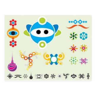 Fun Dingbats main design Postcard