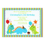 "Fun Dinosaurs Birthday Party Invitation 5"" X 7"" Invitation Card"