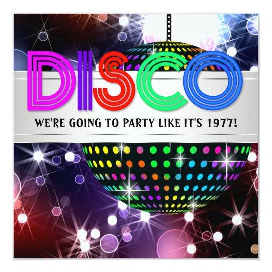Fun Disco Party Invitations Zazzle Com