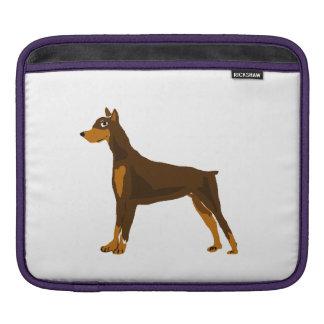 Fun Doberman Pinscher Dog Art Sleeve For iPads