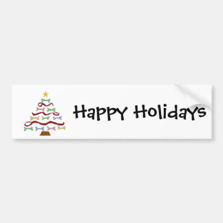 Fun  Dog Biscuit Christmas Tree Art Bumper Sticker