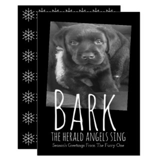 Fun Dog Christmas Bark The Herald Angels Sing Card