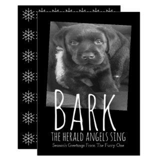 Fun Dog Christmas Bark The Herald Angels Sing Card
