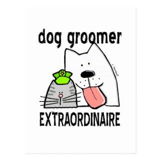 Fun Dog Groomer Extraordinaire Postcard
