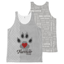 Fun Dog Lover Fashion with Paw Prints All-Over-Print Tank Top