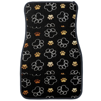 Fun Dog paw print pattern accessories Dog walker Floor Mat