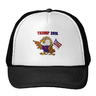 Fun Donald Trump American Eagle Cartoon Trucker Hat