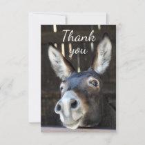 Fun Donkey, Burro, Farm Animal Humor Thank You