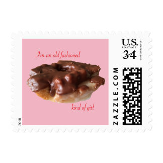 Fun Donuts Postage Stamp Old Fashioned