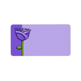 Fun Doodle Flowers purple orange label