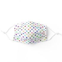 Fun Dots Any Color Background! Face Masks