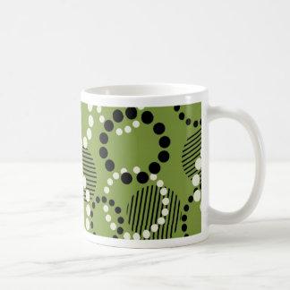 Fun Dots Olive Mug