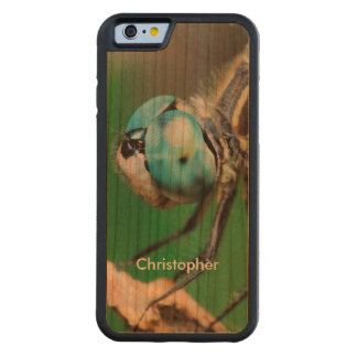 Fun Dragonfly Nature Wildlife Handmade Wood Custom Carved® Cherry iPhone 6 Bumper