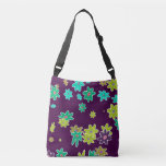 fun drawn flowers colorful design crossbody bag