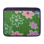 fun drawn flowers colorful design sleeve for MacBook air