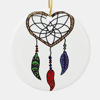 Fun Dream Catcher Art Ceramic Ornament