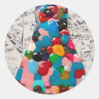 fun dress for a musical.jpg classic round sticker