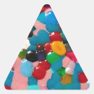 fun dress for a musical.jpg triangle sticker