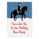 Fun Dressage Horse Christmas Invitation
