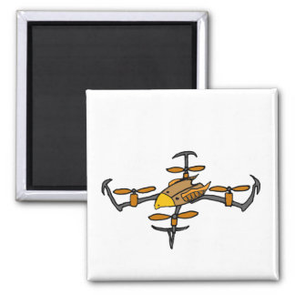 Fun Drone Flying Eagle Design 2 Inch Square Magnet