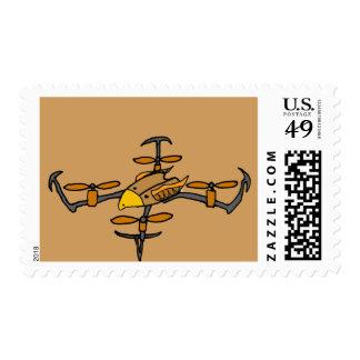 Fun Drone Flying Eagle Design Postage