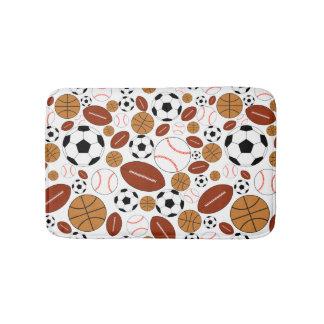 Fun Dynamic Sports Balls Bathroom Mat