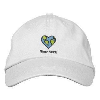 Fun Earth Heart Embroidered Icon Embroidered Baseball Cap