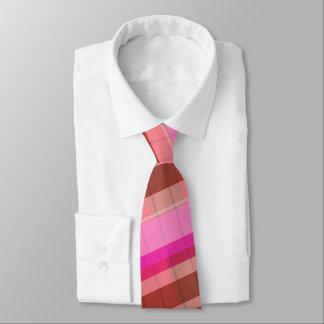 Fun earth tone plaid men's tie