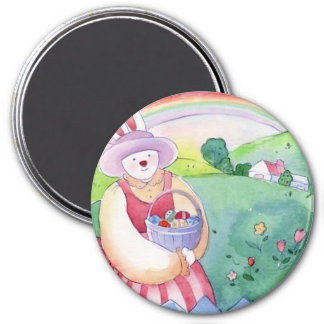 Fun Easter Bunny Rabbit and Eggs Magnet