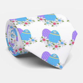 Fun Easter Egg With Purple and Blue Eggs Tie