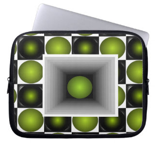 Fun Electronics Case Optical Illusion Green