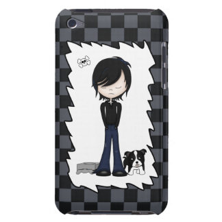 Fun Emo Goth Boy Cute Cartoon Teenager Barely There iPod Cover