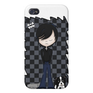 Fun Emo Goth Boy Cute Cartoon Teenager Case For iPhone 4
