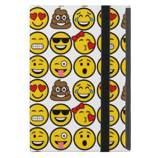 Fun Emoji Pattern Emotion Faces iPad Mini Cover