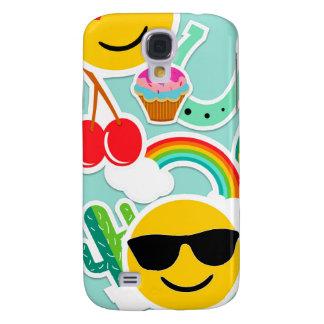 Fun Emoji Sticker Pattern Samsung Galaxy S4 Cover