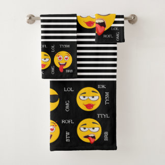 Fun Emojis Bath Towel Set
