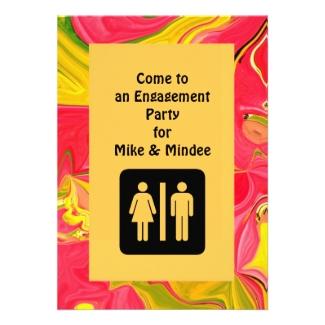 fun engagement invitation