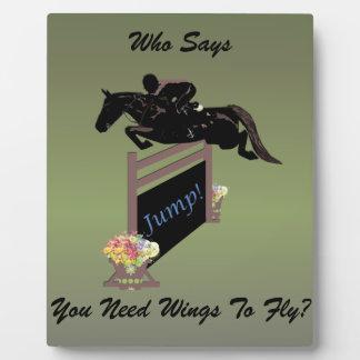 Fun Equestrian Horse Jumper Plaque