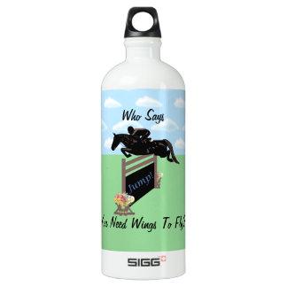 Fun Equestrian Horse Jumper Water Bottle